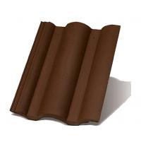Цементно-піщана черепиця Terran Данубіа ColorSystem коричневий