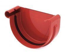 Заглушка желоба левая Bryza L 150 мм красный