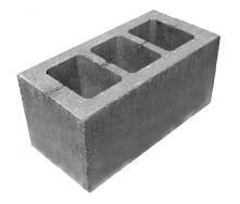 Шлакоблок стеновой усиленный М-75 190х190х390 мм
