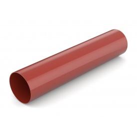 Водостічна труба Bryza 75 63 мм 3 м червоний