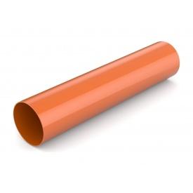 Водостічна труба Bryza 75 63 мм 3 м цегляний
