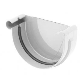 Заглушка ринви ліва Bryza L 125 мм білий