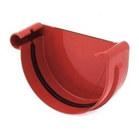 Заглушка ринви ліва Bryza L 125 мм червоний