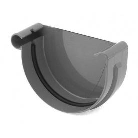 Заглушка ринви ліва Bryza L 150 мм графіт