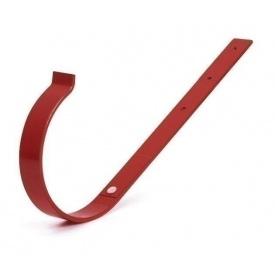 Тримач ринви прямий Bryza 125 190х130х4 мм червоний