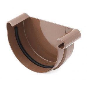 Заглушка желоба правая Bryza R 150 мм коричневый