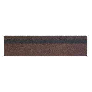 Коньково-карнизная черепица Shinglas 250х1000 мм коричневый