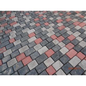 Тротуарная плитка Старинный камень серая