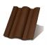 Цементно-песчаная черепица Terran Данубиа ColorSystem коричневый