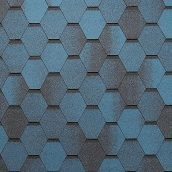 Битумная черепица Tegola Super Mosaic 1000х337 мм синяя ночь