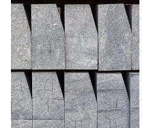 Бордюр дорожный из натурального гранита с фаской 100х30х15 мм черный