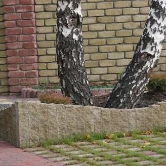 Столбик декоративный Золотой Мандарин 250х100х60 мм горчичный