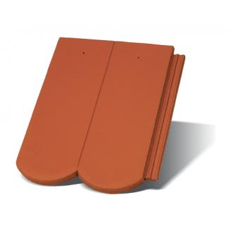 Цементно-песчаная черепица Terran Рундо ColorSystem кирпичная