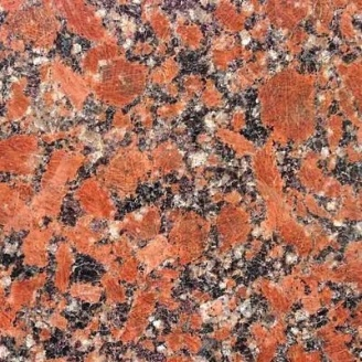 Плитка настенная Rosso Santiago полированная из камня 600х600х10 мм красная