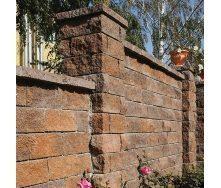 Камень для столбиков Золотой Мандарин (трехсторонний скол) 300х100х150 мм персиково-коричневый