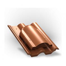 Вентилятор подкровельного пространства Wirplast Tile P60 285x210 мм кирпичный RAL 8004