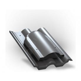 Вентилятор подкровельного пространства Wirplast Tile P60 285x210 мм графитовый RAL 7024
