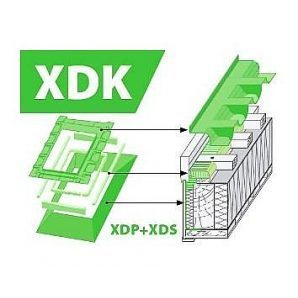 Комплект окладов FAKRO XDK гидро-пароизоляционный 114x140 см