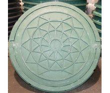 Канализационный люк полимерпесчаный с замком 1 т зеленый
