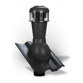 Вентиляционный выход Wirplast Tile К62 110x500 мм черный RAL 9005