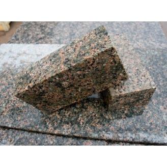 Тротуарна плитка з Василівського граніту 20х10х3-5 см кремова