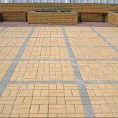 Тротуарная плитка Золотой Мандарин Кирпич стандартный 200х100х80 мм на белом цементе желтый