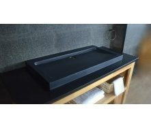 Гранитная раковина Designo Black Stone накладная черная