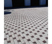 Тротуарная плитка Золотой Мандарин Кирпич стандартный 200х100х60 мм на белом цементе белый