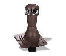 Вентиляционный выход Wirplast Uniwersal К44 110x500 мм коричневый RAL 8017