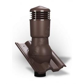 Вентиляционный выход Wirplast Tile К57 110x500 мм коричневый RAL 8017