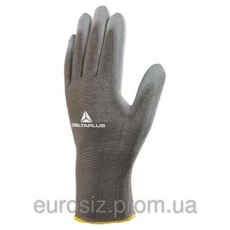 Перчатки рабочие DELTA PLUS с полиуретановым покрытием VE702PG