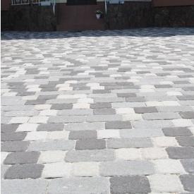 Тротуарна плитка Золотий Мандарин Стара площа 160х40 мм на білому цементі білий