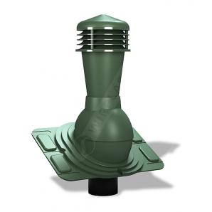 Вентиляционный выход Wirplast Uniwersal К25 110x500 мм зеленый RAL 6020