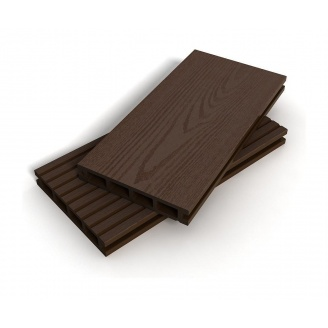 Террасная доска Zagu Classic 150x25x5800 мм темный шоколад