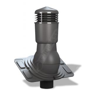 Вентиляционный выход Wirplast Uniwersal К26 110x500 мм графитовый RAL 7024