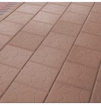 Тротуарная плитка Золотой Мандарин Плита 300х300х40 мм персиковый на сером цементе