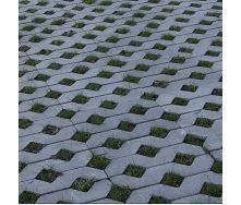 Тротуарная плитка Золотой Мандарин Парковочная решетка 500х500х80 мм серый