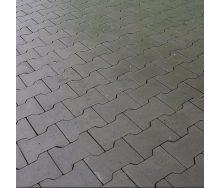 Тротуарная плитка Золотой Мандарин Двойное Т 200х170х70 мм серый