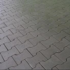 Тротуарна плитка Золотий Мандарин Подвійне Т 200х170х70 мм сірий