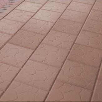 Тротуарна плитка Золотий Мандарин Плита 300х300х40 мм персиковий на сірому цементі