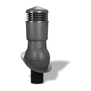 Вентиляционный выход Wirplast Normal К24 110x500 мм графитовый RAL 7024