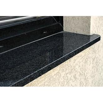 Гранитный отлив из габбро 150Х20 мм черный/темно-серый