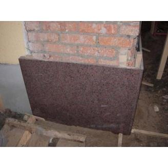 Плитка облицовочная гранитная Токовский камень 20 мм красно-коричневая