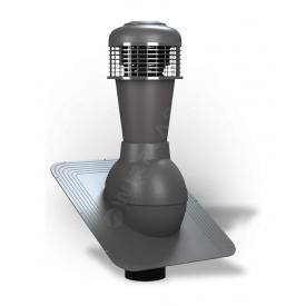 Вентиляционный выход Wirplast Standard К42 110x500 мм графитовый RAL 7024