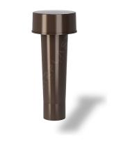 Колпак для вентиляционного выхода Wirplast Roof Vent К1-2 50x256 мм коричневый RAL 8017