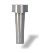 Колпак для вентиляционного выхода Wirplast Roof Vent К1-1 50x256 мм серый RAL 7046