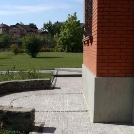 Тротуарна плитка Золотий Мандарин Меланж Цегла 200х100х60 мм бісер