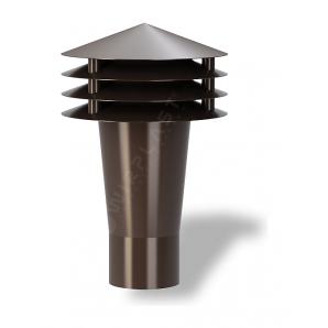 Колпак для вентиляционного выхода Wirplast Gravitation Vent К9-2 50x187 мм коричневый RAL 8017