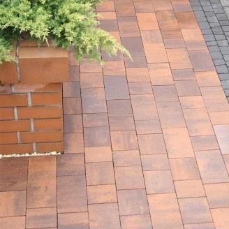 Тротуарная плитка Золотой Мандарин Плац 160х60 мм сиена