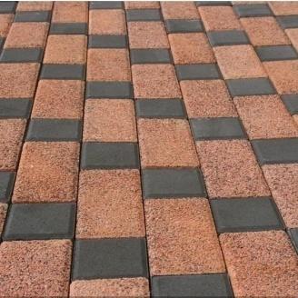 Тротуарная плитка Золотой Мандарин Меланж Квадрат 100х100х60 мм жемчуг
